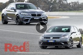 Volkswagen Golf R v BMW M2: Video Comparison